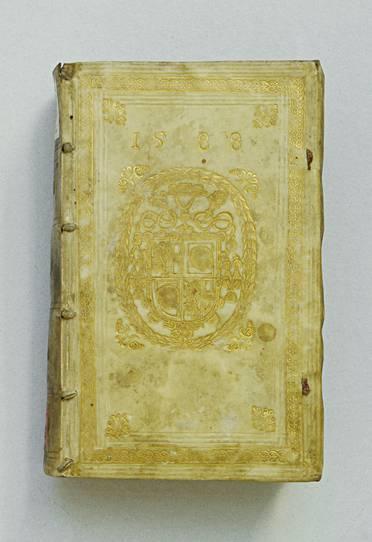 Wappen mit Kardinalshut im Lorbeerkranz. 1588, Universitätsbibliothek Klagenfurt: Signatur ES I 5087,2