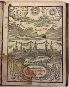 Neuausgefertigter Haus und Schreibkalender I ES 18351 Vortitelblatt