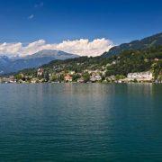 Landschaftsaufnahme Millstatt am See und Millstätter See