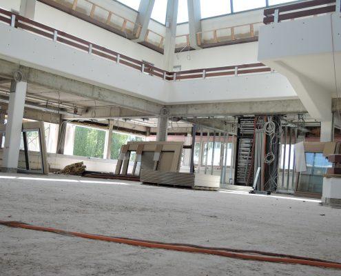 Sanierung Foyer mit Studienabteilung August 2017 | Foto: aau/Müller