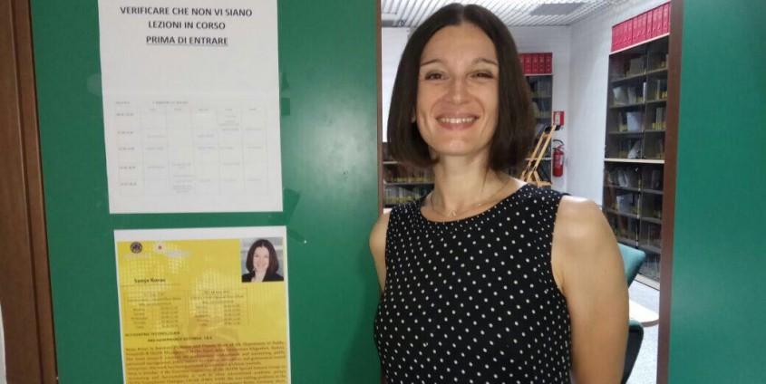 Ass.-Prof.in Sanja Korać bei der International Summer School in Salerno, Italien
