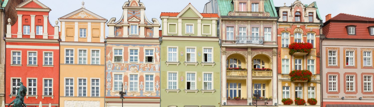 Renaissance houses in Poznan, Poland