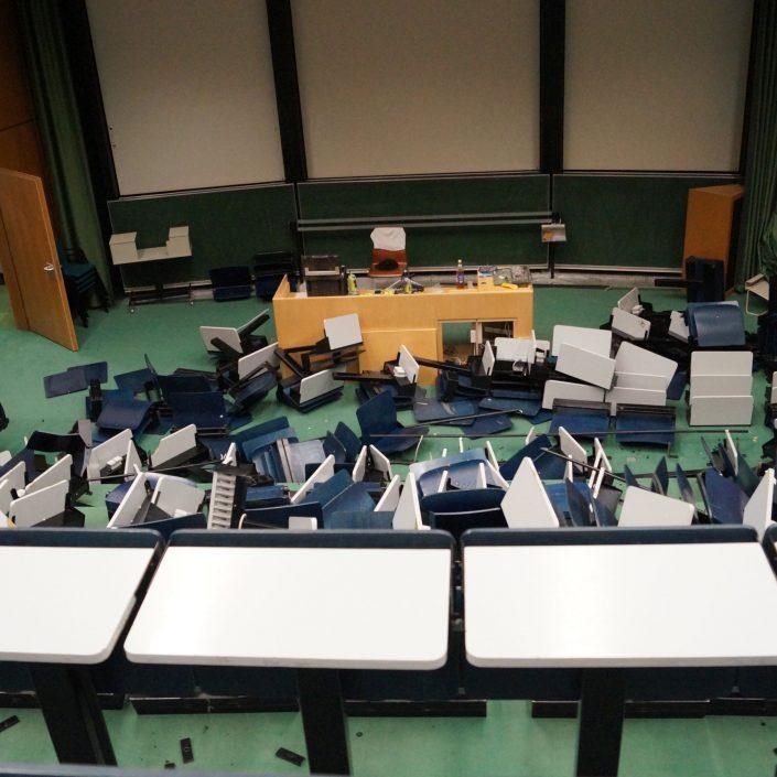 Generalsanierung Abbruch Hörsaal 1 | Foto: aau/Lydia Krömer
