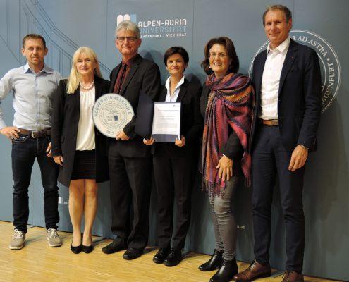 Titelverleihung Kooperationsschule der AAU an WIMO | Foto: aau/Romy Müller