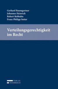 Verteilungsgerechtigkeit im Recht | Buchcover