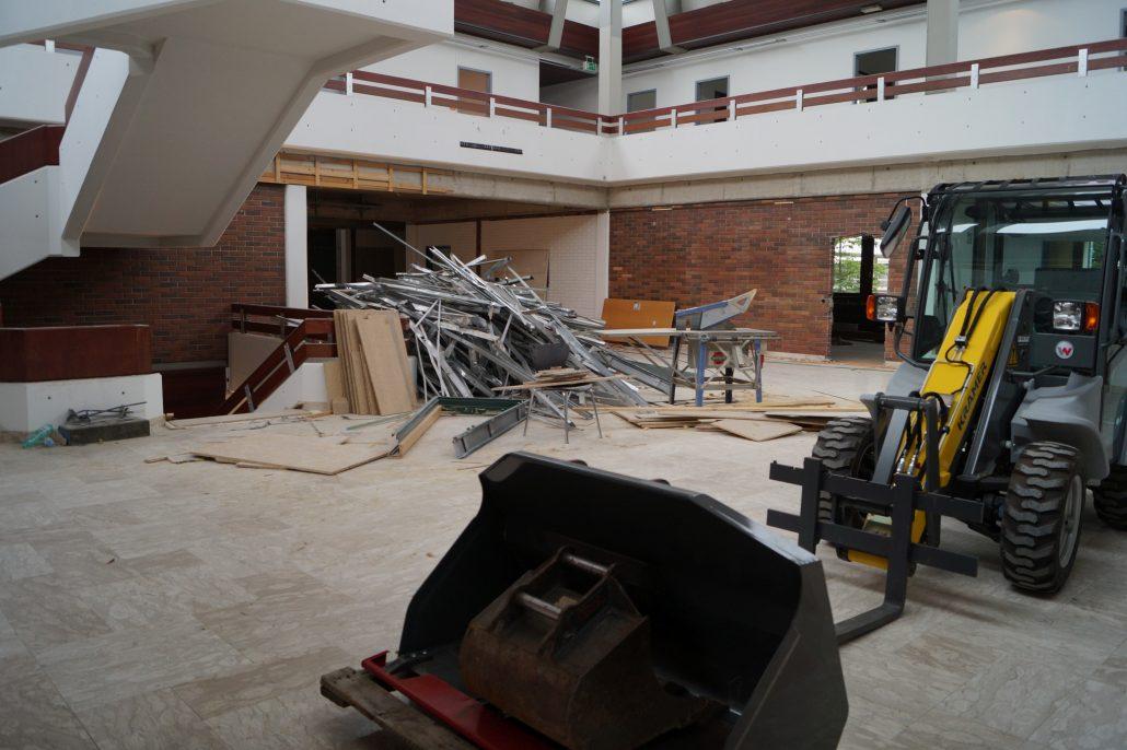 Generalsanierung Abbruch Foyer | Foto: aau/Lydia Krömer