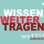 Deckblatt Alumni-Broschüre WS17/18
