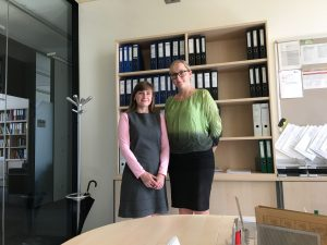 PhD student Olga Trunova and teaching assistent Ines Komar, picture: Rondo-Brovetto P.