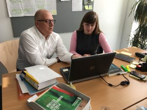 prof. Rondo Brovetto and PhD student Olga Trunova, picture: Rondo-Brovetto P.
