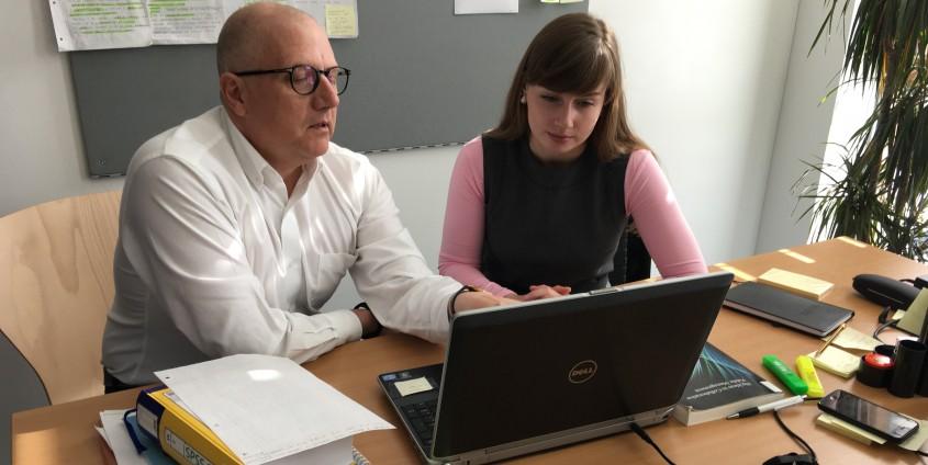 prof. Rondo Brovetto and PhD student Olga Trunova, picture: Rondo-Brovetto P.