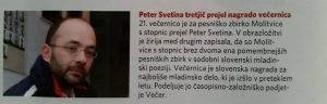 "Kinder- und Jugendliteratur-Preis ""Večernica"" - Peter Svetina (Quelle: Nedelja)"