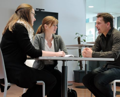 Janet Kleber, Alexandra Rausch & Bartosz Gula | Foto: aau/Müller