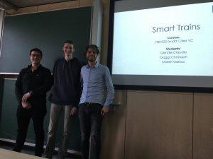 Markus Müller, Christoph Gaggl and Claudio Gentile present smart trains, photo: Rondo-Brovetto P.