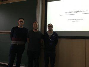 Daniel Königstorfer, Stefan Mikl and Mathias Ouschan present a smart energy system, photo: Rondo-Brovetto P.