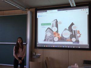 Daniela Popova (and Nathan Huffmann) present a smart trashure system, photo: Rondo-Brovetto P.