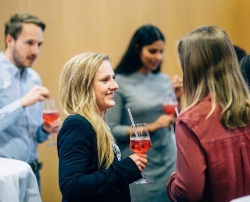 Karriereprogramm interactive! Abschlussfeier 2017/18. Socialising | Foto: Christina Supanz