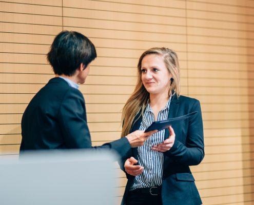 Karriereprogramm interactive! Abschlussfeier 2017/18. Zertifikatsübergabe durch Vizerektorin D. Hattenberger | Foto: Christina Supanz