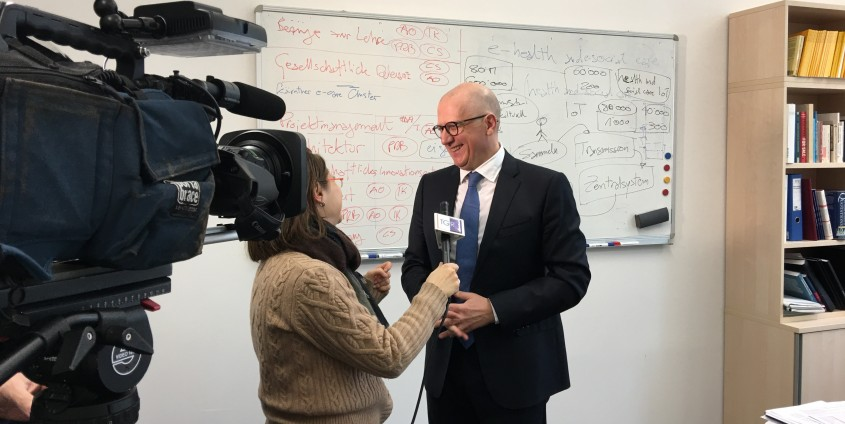 Prof. Rondo-Brovetto gave an interview to the Italian National Television (RAI), photo: Rondo-Brovetto P.
