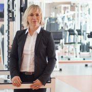 Katrin Doeveling in der USI Kraftkammer