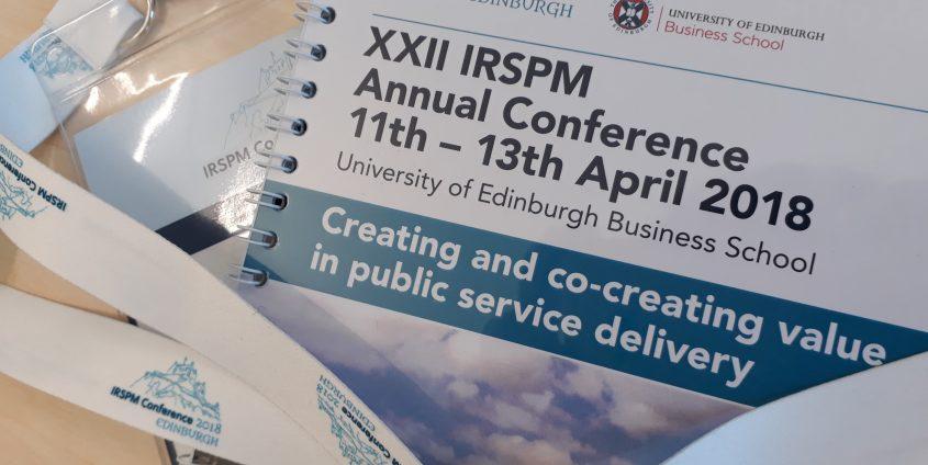 IRSPM Annual Conference Edinburgh, Foto: Moser B.