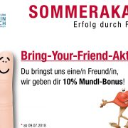 Bring Your Friend Aktion _ Deutsch in Österreich