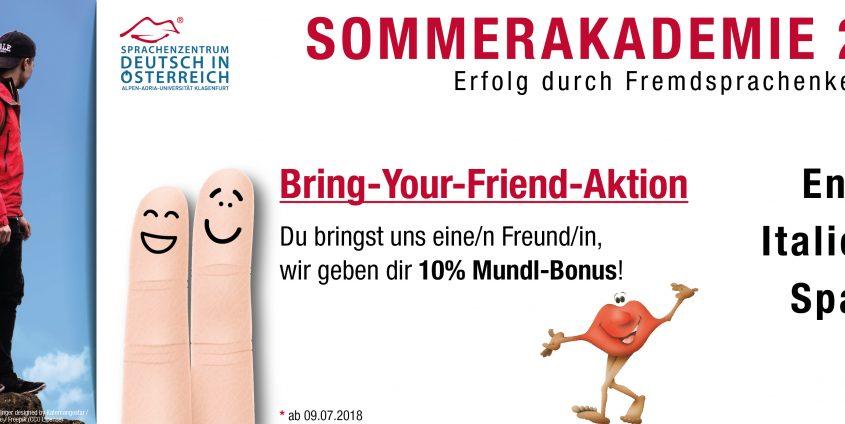 Bring Your Friend Aktion _ Deutsch in Österreich