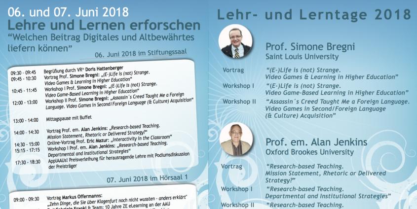 Programm der Lehr- und Lerntage 2018