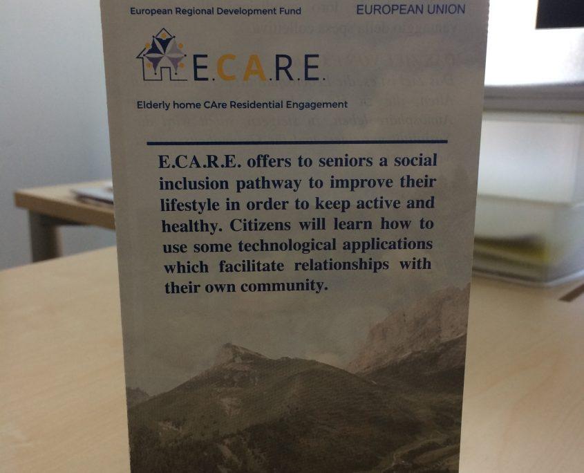 """Flyer """"Elderly home CAre Residential Engagement"""", photo: Komar I."""
