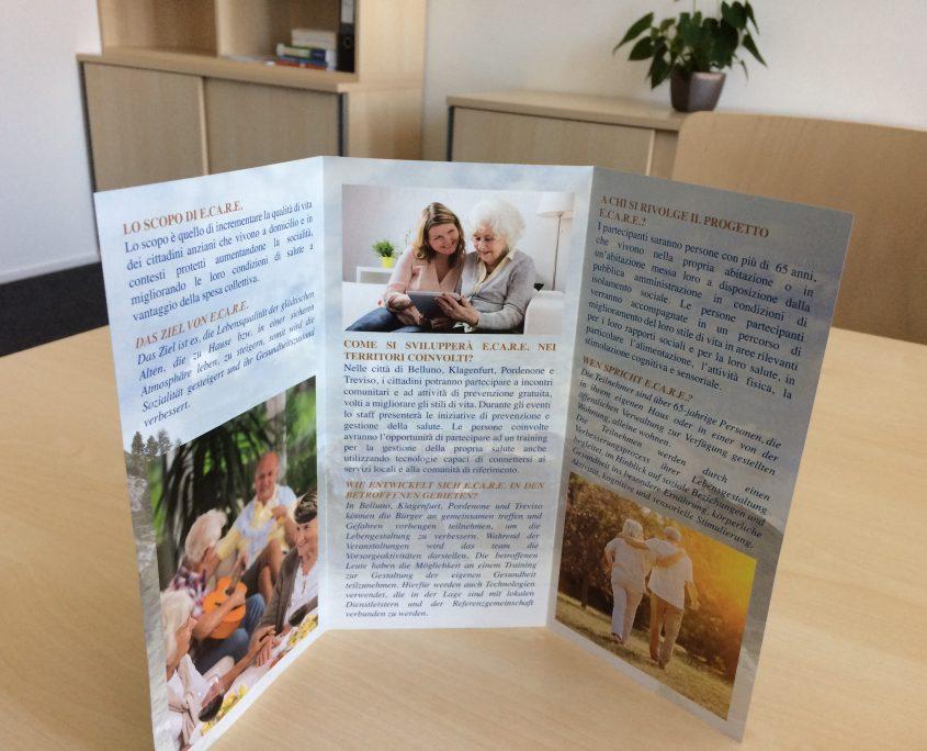 """Flyer inside """"Elderly home CAre Residential Engagement"""", photo: Komar I."""