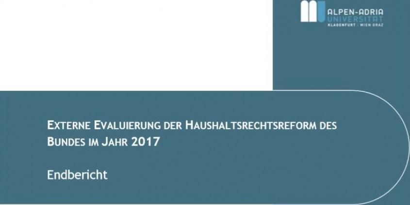Bericht: Externe Evaluierung der Haushaltsrechtsreform des Bundes 2017, Foto: Saliterer I.