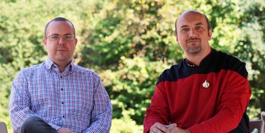 Martin Gabriel und Wilfried Elmenreich | Foto: aau/Müller