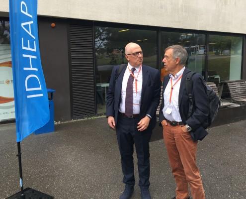 Prof. Rondo-Brovetto und Prof. Christoph Reichard, Foto: Rondo-Brovetto P.