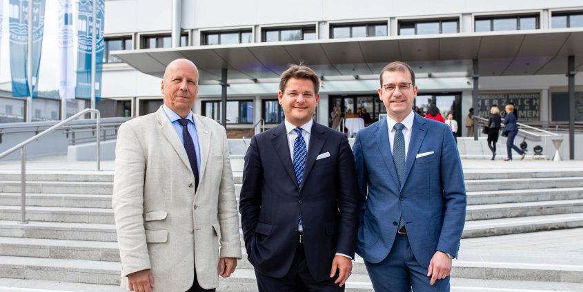 Eröffnungsfeier und Neujahrsempfang an der Universität Klagenfurt v.l. Martin Hitz, Oliver Vitouch und Hans-Peter Weiss