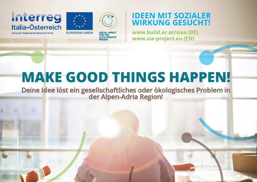 WErbefolder des SIAA Ideenwettbewerbs zum Thema Soziale Innovationen
