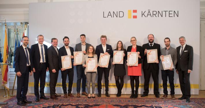 Gruppenfoto der Verleihung des Digitalisierungsstipendiums, Foto: Just Peter