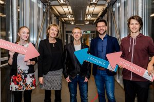 Verein zur Förderung der Berufsplanung an der AAU & StipendiatInnen Christina Pranjic, Moritz Hiebler, Yordan Yordanov | Foto: aau/Christina Supanz