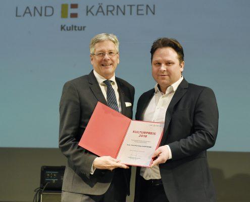 Förderungspreis des Landes Kärnten an Klaus Schöffmann