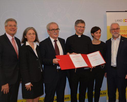 Verleihung des 25. Menschenrechtspreis 2018 des Landes Kärnten an das Vladimir Wakounig und Andrea Wernig