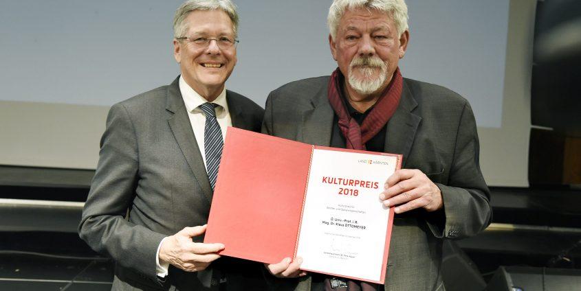 Verleihung des Kulturpreises des Landes Kärnten 2018 an Klaus Ottomeyer | Foto: LPD Kärnten/Fritzpress