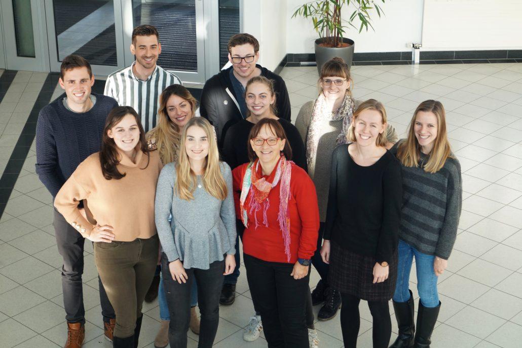 Das Be First Team an der Universität Klagenfurt