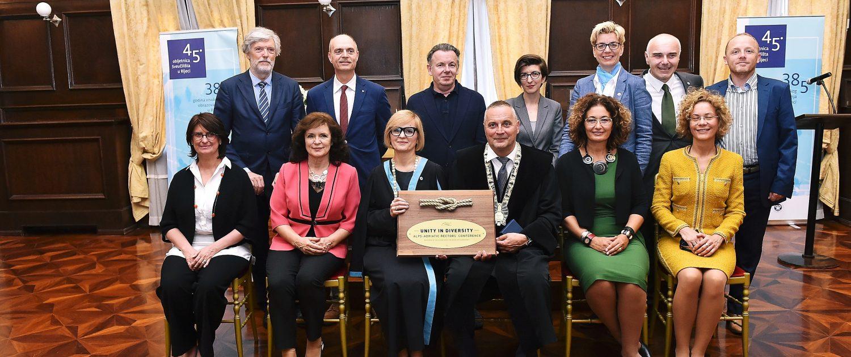 Übergabe der 'presidency' von der Universität Györ an die Universität Rijeka