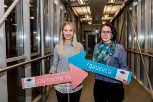 Förderer und Stipendiatin des Klagenfurt-Stipendiums. Stadtwerke Klagenfurt