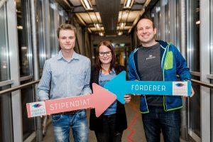 Förderer und Stipendiatin des Klagenfurt-Stipendiums. Bitvomin