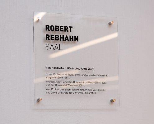 """Benennung des Hörsaals 1 in """"Robert-Rebhahn-Saal"""""""