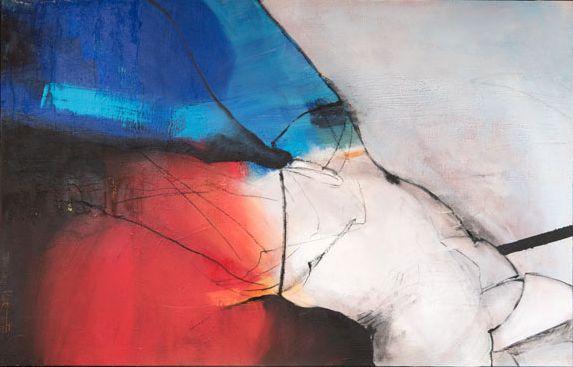Ruth Hanko: Ohne Titel, 2010, Acryl auf Leinwand 90 x 140 cm | Foto: Ferdinand Neumüller