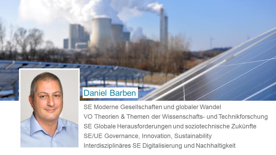 Daniel Barben: Lehrveranstaltungen im Wintersemester
