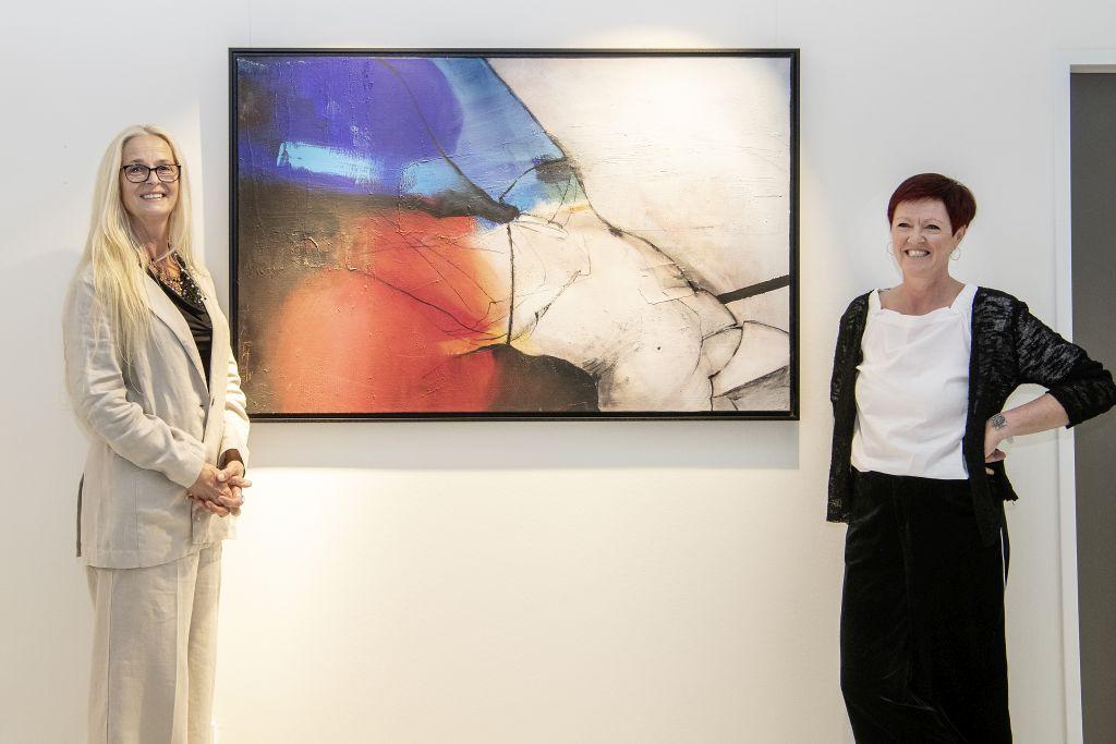 Ruth Hanko Eröffnung: Ruth Hanko (links), Barbara Maier (rechts)