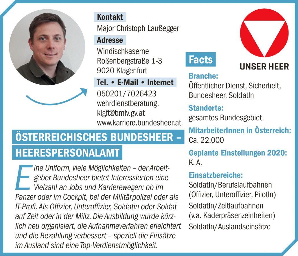 connect19-Firmenprofil Österreichisches Bundesheer