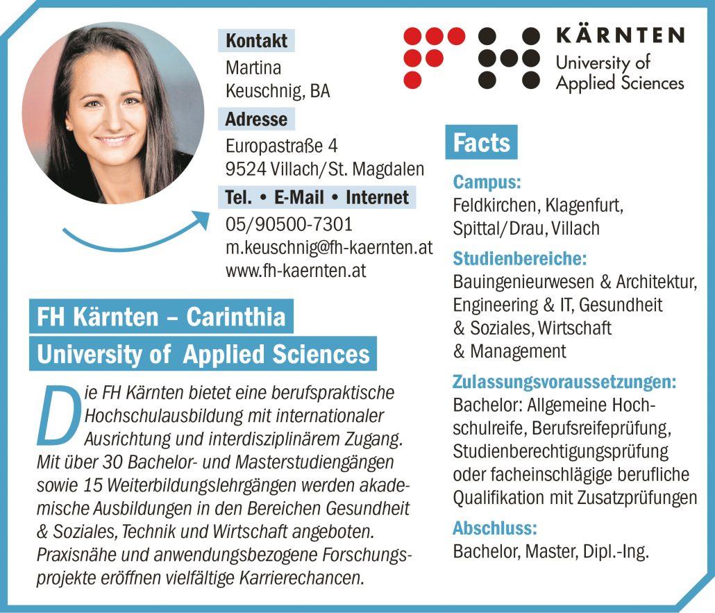 connect19-Firmenprofil FH Kärnten