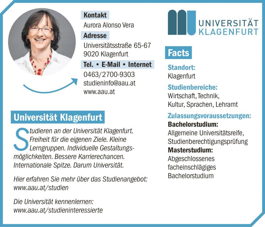 connect19-Firmenprofil Universität Klagenfurt